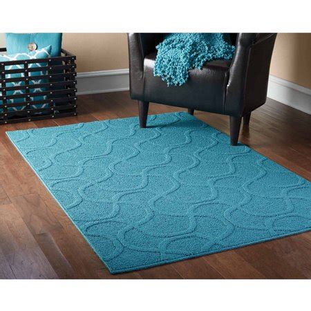 Teal Rug Walmart mainstays brentwood collection drizzle style area rug