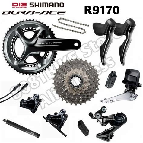 shimano dura ace di2 r9170 groupset hydraulic disc brake flat mount 2x11 speed r9100 in bicycle