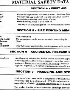 Download coshh report pdf safety data sheet pictures book for Material safety data sheet template free