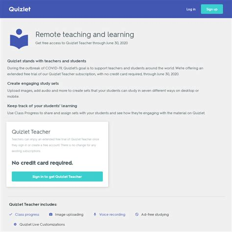 Subscription cancellations will take effect following the current. FREE Quizlet Teacher due to Coronavirus - CheapCheapLah