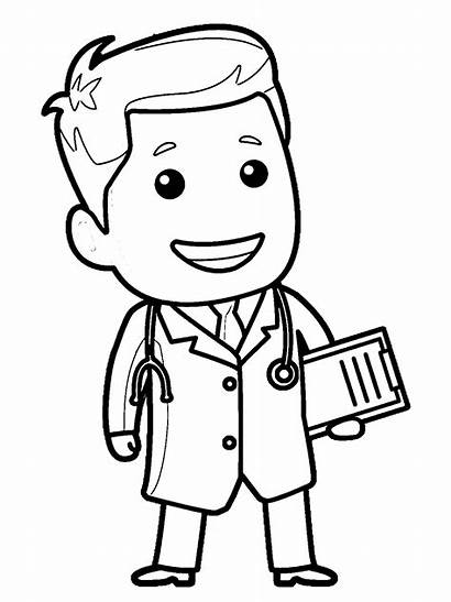 Doctor Coloring Nurse Clipart Pages Drawing Wecoloringpage
