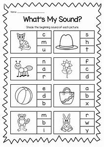 Beginning Sounds Printable Worksheet Pack - Kindergarten ...