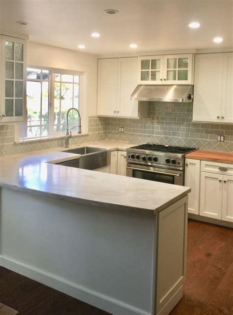 classic cottage kitchen  handmade subway tile