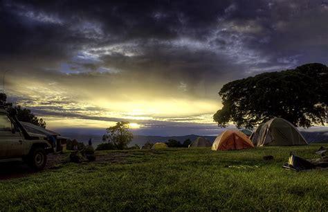 simba camp sunrise ngorongoro crater rim tanzania afric