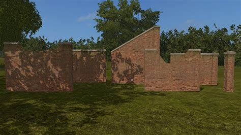 wall ls in brick wall prefab other farming simulator 2017 17 ls mod