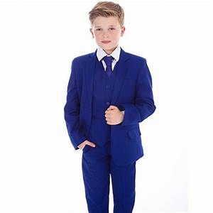 Boys Blue Suits Boys Suits Page Boy Prom Wedding Party Outfit 5 Piece