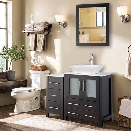 Home bathroom sinks └ bathroom sinks & vanities └ bath └ home & garden all categories antiques art baby books business & industrial cameras & photo cell phones & accessories clothing, shoes & accessories coins & paper money collectibles computers/tablets & networking consumer. Vanity Art 36 Inch Single Sink Bathroom Vanity Combo Set ...