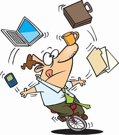 Juggling Cartoon Things Many Juggler Unicycle Office