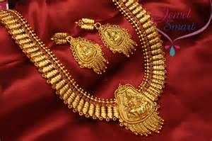 antique gold jhumka earrings temple jewellery gold plated antique necklace in