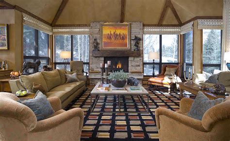 Rustic Western Living Room Interior Decor Style Custom