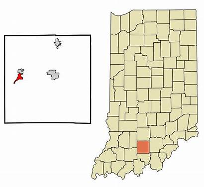 Svg Orange County Indiana Highlighted French Unincorporated