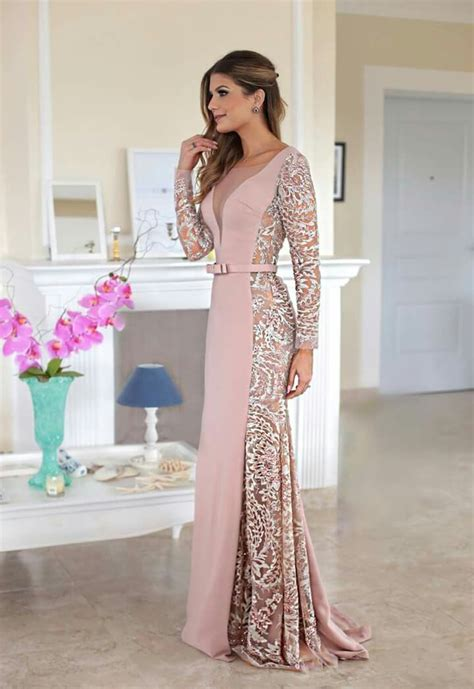 prom glam nice  chic beautiful side insert lace