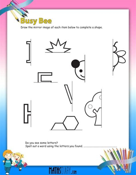 drawing mirror images worksheets math worksheets
