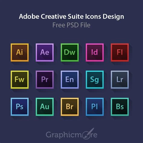 adobe creative suite icons design  psd file