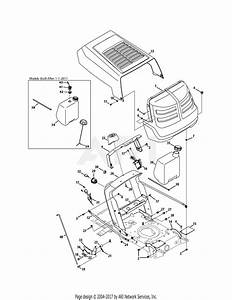 Mtd 13ac76lf031  Lt3800   2011  Parts Diagram For Hood  U0026 Dash