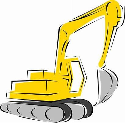 Clipart Construction Cliparts Equipment Backhoe Clip Machine