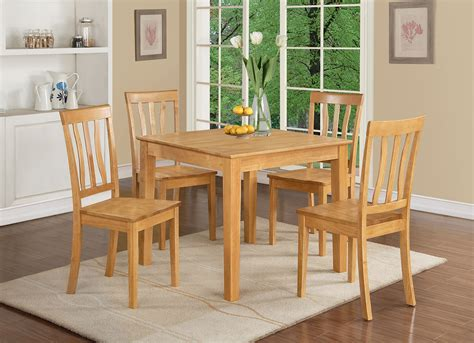 oxan3 oak w 3 pieces small kitchen table and chairs set