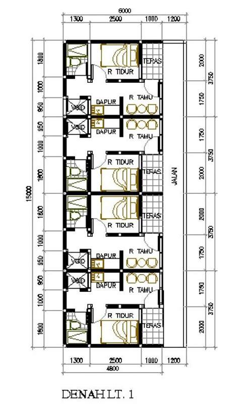 desain rumah petakan lahan rumah kontrakan pinterest