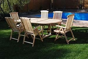 Gartenstühle Und Tisch : sam teak holz gartengruppe gartenm bel 7 teilig sitzgruppe bestehend aus 1 x tisch und 6 x ~ Markanthonyermac.com Haus und Dekorationen