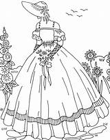 Embroidery Cqmagonline Hand Lady Patterns Ladies Crinoline Coloring Magazine Quilting Crazy Sewing Patrones Barbie Transfers Bordado Articles Redwork Stitch Applique sketch template
