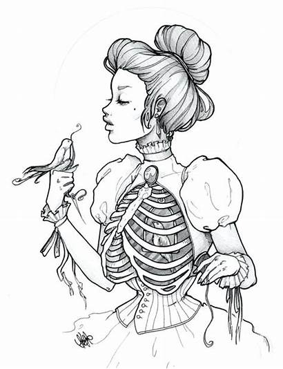 Gothic Coloring Pages Getdrawings