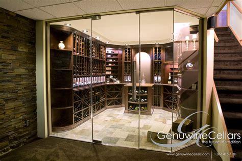 glass enclosed wine cellars genuwine cellars