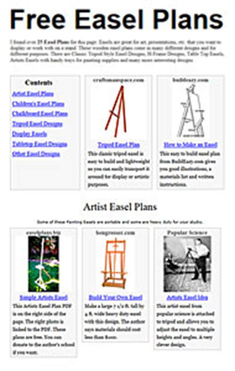 wooden french easel plans   plans