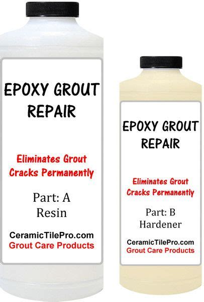 Bathroom Tile Grout Repair Products by Epoxy Grout Repair Kit 6 Oz Fixes All Types Of Grout