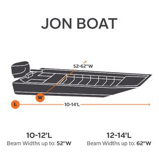 12 Foot Extra Wide Jon Boat by Classic Accessories Jon Boat Cover 12 To 14 Ft Fitness