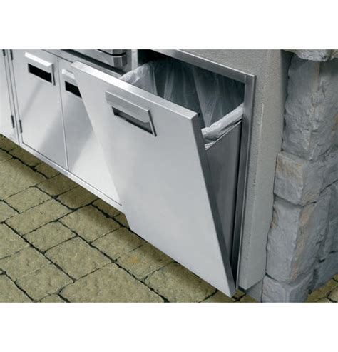 ZX18TC   GE Monogram® Stainless Steel Tilt Out Trash Bin