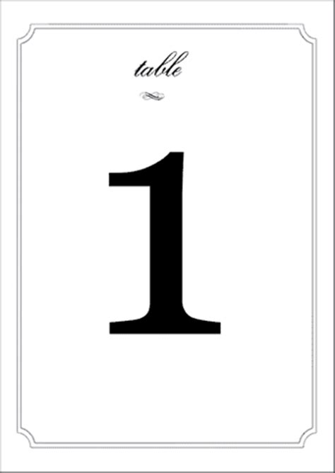 wedding table numbers label templates eu