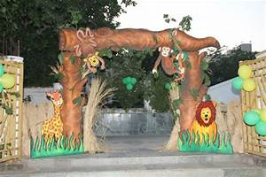 Entrance safari party decoration kid