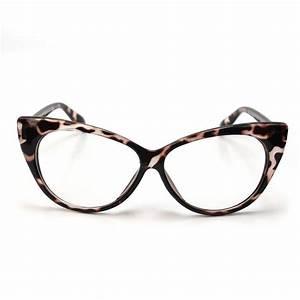 DealDey - Women Cat eye glasses (Leopard print)