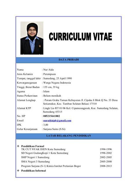 15 contoh curriculum vitae ben