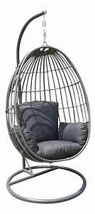Fauteuil Suspendu Osier : fauteuil suspendu mendora gris fonc collishop ~ Teatrodelosmanantiales.com Idées de Décoration
