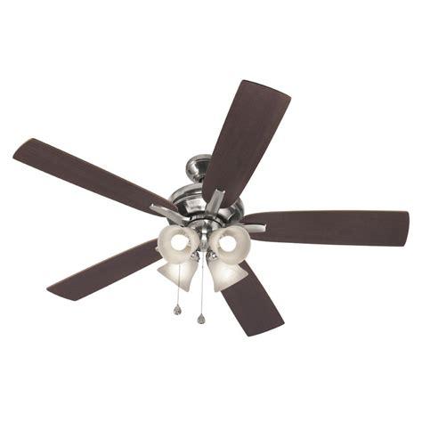 harbor breeze fan downrod harbor breeze 52 in brushed nickel downrod ceiling fan