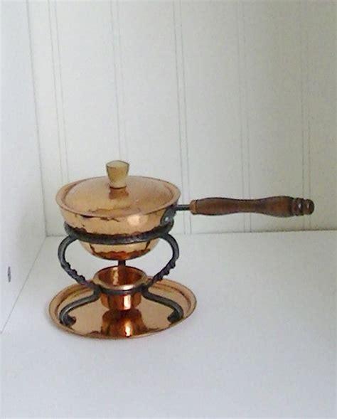vintage hammered copper tin lined brandy butter