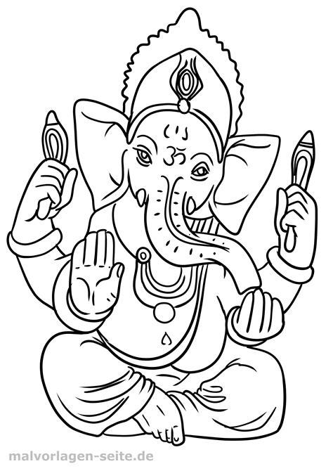 malvorlage religion hinduismus