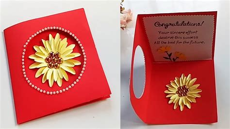 Send congratulation cards to your loved ones and make their moments of glory even more special. Greeting Card Making Ideas - congratulation card - YouTube