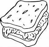 Bread Sandwich Coloring Slice Drawing Pages Food Drawin Cartoon Toast Print Getcolorings Getdrawings Friends Printable Colorings Sam Tremendous sketch template