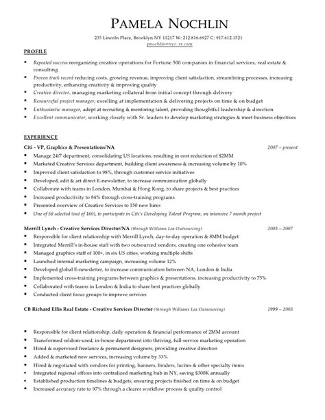 sle resume for goldman sachs pam nochlin resume