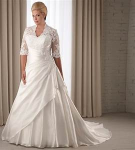 Lace plus size wedding dress sleeves bridal bride wedding for Plus size lace wedding dresses with sleeves