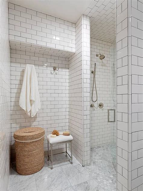 subway tile shower design traditional bathroom tim