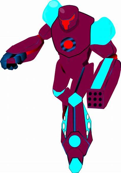 Robot Purple Clip Clker Clipart Vector Royalty
