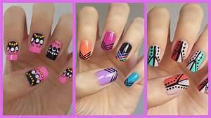 Easy Nail Art For Beginners!!! #12   MissJenFABULOUS - YouTube