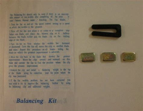 ceiling fan balancing kit
