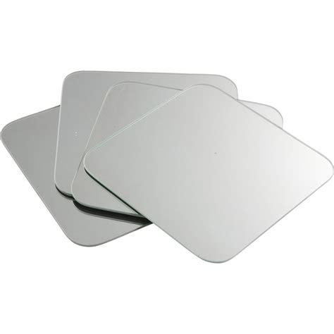 table haute cuisine avec rangement lot de 4 miroirs non lumineux adhésifs carrés avec coins