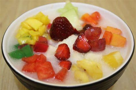 membuat es buah segar nikmat  sederhana