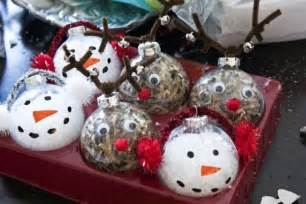 clear glass ornaments craft ideas rudolph and snow clear ornament craft ideas chirstmas