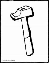 Hammer Colouring Kiddicolour Drawing Pages Kiddi 01v sketch template